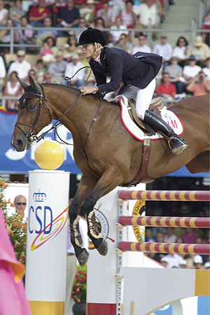 An international jumping star, Butterfly Flip and Malin Baryard at the Sydney Olympics