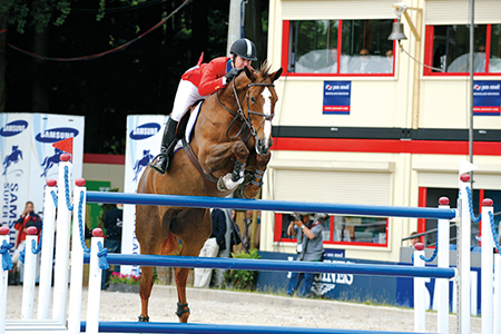 But some of the mares can compete - Sapphire, a star for McLain Ward of the USA