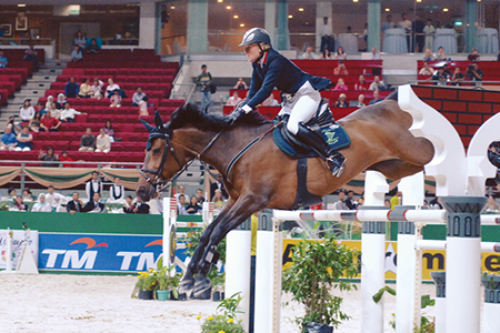 Castle Forbes Libertina - out of a Polydor mare, is one of the world's great jumpers with Jessica Kurten