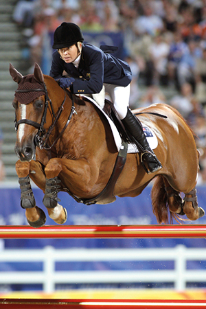 Edwina Alexander and her current showjumping star, Itot de Sémilly – by Le Tot de Sémilly out of a Galoubet mare