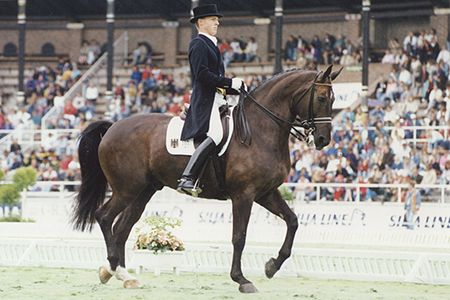 Andiamo with Sven Rothenburger competing at the 1990 WEG