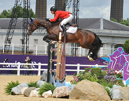 Beezie Madden and Coral Reef Via Volo competing at the London Olympics