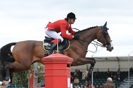 One of the surprises at the 2009 Europeans, the Italian, Natale Chiaudani riding Snai Seldana di Campetlto by Wellington led his team to Silver and rccorded the only double clear on day two